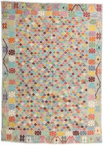 Kelim Afghan Old Style Tæppe 165X232 Ægte Orientalsk Håndvævet Lysegrå/Lyserød (Uld, Afghanistan)