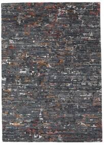 Damask Collection Tæppe 162X229 Ægte Moderne Håndknyttet Mørkegrå/Lysegrå ( Indien)