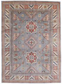 Kazak Tæppe 250X346 Ægte Orientalsk Håndknyttet Lysegrå/Mørkegrå Stort (Uld, Afghanistan)