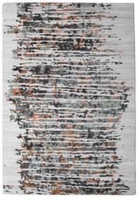 Damask Collection Tæppe 159X230 Ægte Moderne Håndknyttet Lysegrå/Mørkebrun ( Indien)