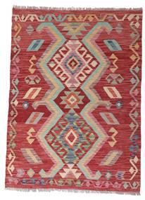 Kelim Afghan Old Style Tæppe 102X140 Ægte Orientalsk Håndvævet Mørkerød/Rust (Uld, Afghanistan)