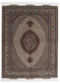 Tabriz 60 Raj Silketrend Tæppe 156X198 Ægte Orientalsk Håndknyttet Mørkebrun/Mørkegrå (Uld/Silke, Persien/Iran)