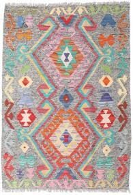 Kelim Afghan Old Style Tæppe 86X124 Ægte Orientalsk Håndvævet Lysegrå (Uld, Afghanistan)
