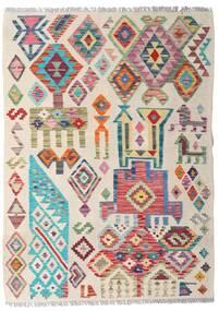 Kelim Afghan Old Style Tæppe 94X129 Ægte Orientalsk Håndvævet Lysegrå/Lyserød (Uld, Afghanistan)