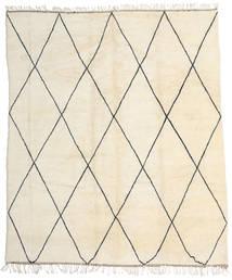 Berber Moroccan - Beni Ourain Tæppe 318X374 Ægte Moderne Håndknyttet Beige Stort (Uld, Marokko)
