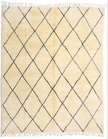 Berber Moroccan - Beni Ourain Tæppe 280X345 Ægte Moderne Håndknyttet Beige/Mørk Beige Stort (Uld, Marokko)