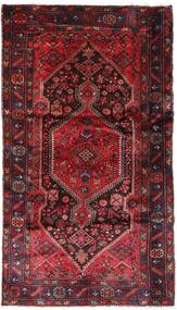 Hamadan Tæppe 137X240 Ægte Orientalsk Håndknyttet Mørkerød/Rød (Uld, Persien/Iran)