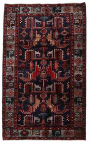 Hamadan Tæppe 131X213 Ægte Orientalsk Håndknyttet Mørkerød (Uld, Persien/Iran)