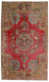 Vintage Heritage Tæppe 140X230 Ægte Moderne Håndknyttet Mørkebrun/Mørkerød (Uld, Persien/Iran)