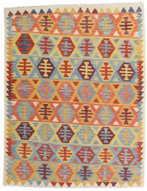 Kelim Afghan Old Style Tæppe 157X202 Ægte Orientalsk Håndvævet Mørk Beige/Lyseblå (Uld, Afghanistan)