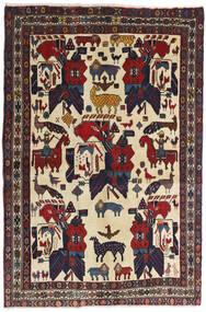 Afshar Tæppe 126X188 Ægte Orientalsk Håndknyttet Mørkegrå/Mørkerød (Uld, Persien/Iran)