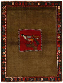 Ghashghai Tæppe 130X170 Ægte Orientalsk Håndknyttet Brun/Mørkebrun (Uld, Persien/Iran)