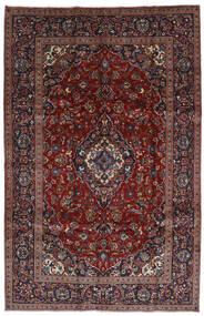 Keshan Tæppe 197X306 Ægte Orientalsk Håndknyttet Mørkerød/Mørkebrun (Uld, Persien/Iran)