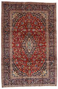 Golpayegan Tæppe 205X307 Ægte Orientalsk Håndknyttet Mørkerød/Sort (Uld, Persien/Iran)