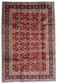 Keshan Tæppe 192X283 Ægte Orientalsk Håndknyttet Mørkerød/Mørkebrun (Uld, Persien/Iran)