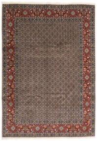 Moud Tæppe 245X347 Ægte Orientalsk Håndknyttet Mørkegrå/Mørkerød (Uld/Silke, Persien/Iran)