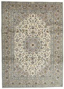 Keshan Tæppe 259X358 Ægte Orientalsk Håndknyttet Lysegrå/Mørkegrå Stort (Uld, Persien/Iran)