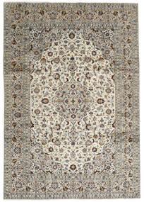 Keshan Tæppe 246X352 Ægte Orientalsk Håndknyttet Lysegrå/Mørkegrå (Uld, Persien/Iran)