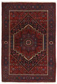 Gholtogh Tæppe 104X152 Ægte Orientalsk Håndknyttet Mørkerød (Uld, Persien/Iran)