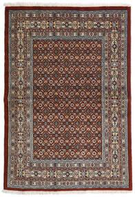 Moud Tæppe 97X141 Ægte Orientalsk Håndknyttet Mørkebrun/Mørkegrå (Uld/Silke, Persien/Iran)