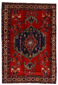 Afshar Tæppe 169X243 Ægte Orientalsk Håndknyttet Mørkerød/Rust (Uld, Persien/Iran)
