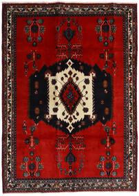 Afshar Tæppe 188X261 Ægte Orientalsk Håndknyttet Sort/Rust/Mørkerød (Uld, Persien/Iran)
