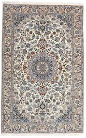 Nain 9La Tæppe 160X251 Ægte Orientalsk Håndknyttet Lysegrå/Hvid/Creme (Uld/Silke, Persien/Iran)
