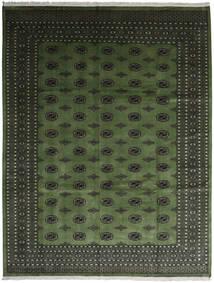 Pakistan Bokhara 2Ply Tæppe 280X363 Ægte Orientalsk Håndknyttet Mørkegrøn/Mørkegrå Stort (Uld, Pakistan)