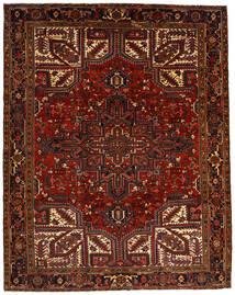 Heriz Tæppe 257X322 Ægte Orientalsk Håndknyttet Mørkerød/Mørkebrun Stort (Uld, Persien/Iran)