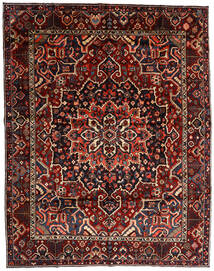Bakhtiar Tæppe 303X390 Ægte Orientalsk Håndknyttet Mørkerød Stort (Uld, Persien/Iran)