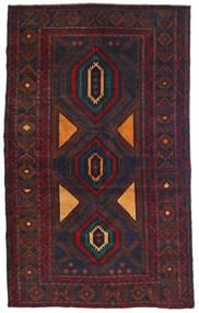 Beluch Tæppe 115X180 Ægte Orientalsk Håndknyttet Sort/Mørkerød (Uld, Afghanistan)