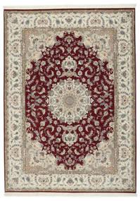 Tabriz 50 Raj Med Silke Tæppe 248X347 Ægte Orientalsk Håndknyttet Lysegrå/Mørkerød (Uld/Silke, Persien/Iran)