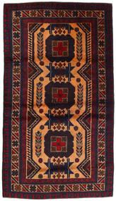 Beluch Tæppe 105X180 Ægte Orientalsk Håndknyttet Mørkeblå/Mørkerød (Uld, Afghanistan)