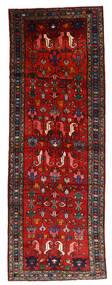 Hamadan Tæppe 108X304 Ægte Orientalsk Håndknyttet Tæppeløber Mørkerød/Rust/Sort (Uld, Persien/Iran)