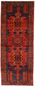 Hamadan Tæppe 112X289 Ægte Orientalsk Håndknyttet Tæppeløber Mørkerød/Mørkebrun (Uld, Persien/Iran)