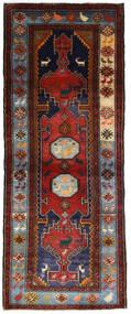 Hamadan Tæppe 111X279 Ægte Orientalsk Håndknyttet Tæppeløber Mørkerød/Mørkebrun (Uld, Persien/Iran)