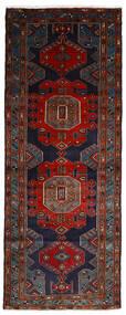 Hamadan Tæppe 106X275 Ægte Orientalsk Håndknyttet Tæppeløber Sort/Mørkerød (Uld, Persien/Iran)