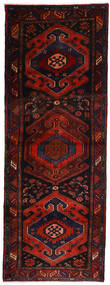 Hamadan Tæppe 106X305 Ægte Orientalsk Håndknyttet Tæppeløber Mørkerød/Rust (Uld, Persien/Iran)