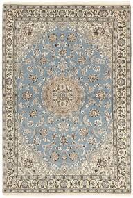 Nain 9La Tæppe 115X175 Ægte Orientalsk Håndknyttet Lysegrå/Beige (Uld/Silke, Persien/Iran)