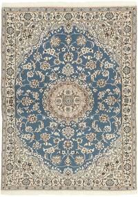 Nain 9La Tæppe 118X171 Ægte Orientalsk Håndknyttet Lysegrå/Beige (Uld/Silke, Persien/Iran)