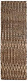 Udendørs Tæppe Siri Jute - Natural/Sort Tæppe 80X250 Ægte Moderne Håndvævet Tæppeløber Brun/Mørkebrun (Jutetæppe Indien)