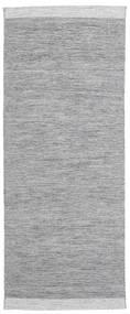 Serafina - Mørkegrå Melange Tæppe 100X250 Ægte Moderne Håndvævet Tæppeløber Lysegrå (Uld, Indien)