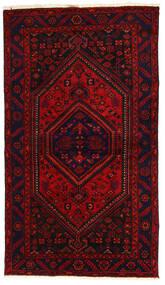 Hamadan Tæppe 138X240 Ægte Orientalsk Håndknyttet Mørkerød/Rust (Uld, Persien/Iran)