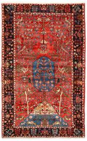 Nahavand Old Tæppe 156X256 Ægte Orientalsk Håndknyttet Mørkerød/Mørkebrun (Uld, Persien/Iran)