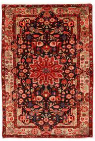 Nahavand Old Tæppe 155X226 Ægte Orientalsk Håndknyttet Rust/Mørkerød (Uld, Persien/Iran)
