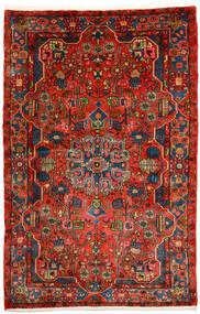 Nahavand Old Tæppe 153X236 Ægte Orientalsk Håndknyttet Mørkerød/Rust (Uld, Persien/Iran)