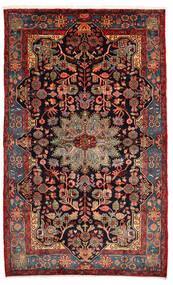 Nahavand Old Tæppe 157X260 Ægte Orientalsk Håndknyttet Mørkerød/Mørkebrun (Uld, Persien/Iran)