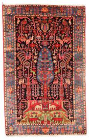 Nahavand Old Tæppe 154X242 Ægte Orientalsk Håndknyttet Mørkerød/Rust (Uld, Persien/Iran)