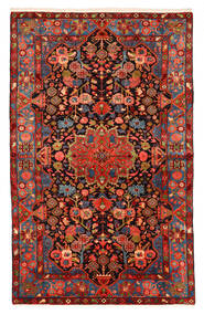 Nahavand Old Tæppe 150X240 Ægte Orientalsk Håndknyttet Mørkerød/Sort (Uld, Persien/Iran)