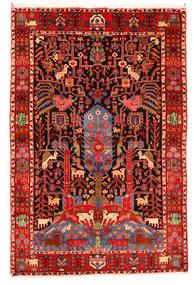 Nahavand Old Tæppe 165X247 Ægte Orientalsk Håndknyttet Mørkerød/Beige (Uld, Persien/Iran)